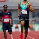 Atletiek NK 2012 100m Heren: Patrick van Luijk