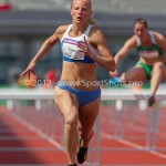Atletiek NK 2012 100m Horden Vrouwen: Sharona Bakker