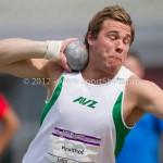 Atletiek NK 2012 Kogelstoten Heren: Thierry Kruithof