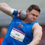 Atletiek NK 2012 Kogelstoten Heren: Patrick Groot