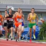 Atletiek NK 2012 800m Heren: Willem Dunkink (539)