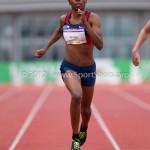 Atletiek NK 2012 200m Vrouwen: Kadene Vassell