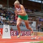 Atletiek NK 2012 400m Horden Vrouwen: Lonneke Derriks