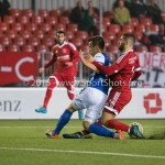 27-10-2015: Voetbal: Almere City FC v FC Den Bosch: Almere (L-R) Daan Disveld (FC Den Bosch), Abdel Metalsi (Almere City FC) KNVB Beker 3de ronde 2015 / 2016