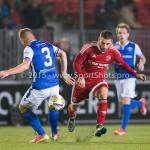 27-10-2015: Voetbal: Almere City FC v FC Den Bosch: Almere (L-R) Tim Hofstede (FC Den Bosch), Norair Mamedov (Almere City FC) KNVB Beker 3de ronde 2015 / 2016