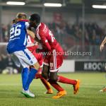27-10-2015: Voetbal: Almere City FC v FC Den Bosch: Almere (L-R) Vykintas Slivka (FC Den Bosch), Enzio Boldewijn (Almere City FC) KNVB Beker 3de ronde 2015 / 2016
