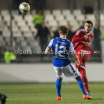 27-10-2015: Voetbal: Almere City FC v FC Den Bosch: Almere (L-R) Joey Belterman (FC Den Bosch), Soufyan Ahannach (Almere City FC) KNVB Beker 3de ronde 2015 / 2016