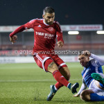 27-10-2015: Voetbal: Almere City FC v FC Den Bosch: Almere (L-R) Norair Mamedov (Almere City FC), Jordy van der Winden (FC Den Bosch) KNVB Beker 3de ronde 2015 / 2016