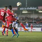 27-10-2015: Voetbal: Almere City FC v FC Den Bosch: Almere (L-R) Khalid Tadmine (Almere City FC), Enzio Boldewijn (Almere City FC), Kees Heemskerk (FC Den Bosch)) KNVB Beker 3de ronde 2015 / 2016