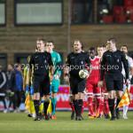 05-02-2016: Voetbal: Almere City FC v RKC Waalwijk: Almere Allard Lindhout (Scheidsrechter) Jupiler League 2015 / 2016
