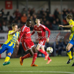 05-02-2016: Voetbal: Almere City FC v RKC Waalwijk: Almere (L-R) Gigli Ndefe (RKC Waalwijk), Enzio Boldewijn (Almere City FC) Jupiler League 2015 / 2016