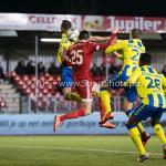 05-02-2016: Voetbal: Almere City FC v RKC Waalwijk: Almere (L-R) Ingo van Weert (RKC Waalwijk), Pelle van Amersfoort (Almere City FC), Ron Janzen (RKC Waalwijk), Gigli Ndefe (RKC Waalwijk) Jupiler League 2015 / 2016