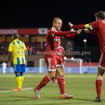 05-02-2016: Voetbal: Almere City FC v RKC Waalwijk: Almere (L-R) Ricardo Kip (Almere City FC), Jason Oost (Almere City FC) Jupiler League 2015 / 2016