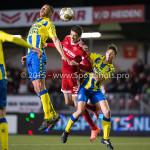 05-02-2016: Voetbal: Almere City FC v RKC Waalwijk: Almere (L-R) Jordy Thomassen (RKC Waalwijk), Pelle van Amersfoort (Almere City FC), Ingo van Weert (RKC Waalwijk) Jupiler League 2015 / 2016