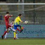 05-02-2016: Voetbal: Almere City FC v RKC Waalwijk: Almere (L-R) Kaj Ramsteijn (Almere City FC), Agil Etemadi (Almere City FC), Pieter Langedijk (RKC Waalwijk) Jupiler League 2015 / 2016