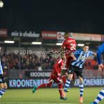 12-02-2016: Voetbal: Almere City FC v FC Eindhoven: Almere (L-R) Pablo Rosario (Almere City FC), Dario van den Buijs (FC Eindhoven) Jupiler League 2015 / 2016