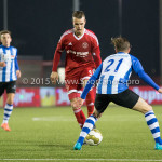 12-02-2016: Voetbal: Almere City FC v FC Eindhoven: Almere (L-R) Lars Nieuwpoort (Almere City FC), Tibeau Swinnen (FC Eindhoven) Jupiler League 2015 / 2016
