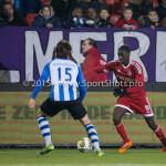 12-02-2016: Voetbal: Almere City FC v FC Eindhoven: Almere (L-R) Milan Massop (FC Eindhoven), Enzio Boldewijn (Almere City FC) Jupiler League 2015 / 2016