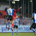 12-02-2016: Voetbal: Almere City FC v FC Eindhoven: Almere (L-R) Dario van den Buijs (FC Eindhoven), Pelle van Amersfoort (Almere City FC) Jupiler League 2015 / 2016