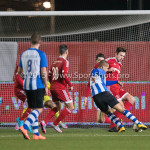 12-02-2016: Voetbal: Almere City FC v FC Eindhoven: Almere (L-R) Anthony van den Hurk (FC Eindhoven), Kaj Ramsteijn (Almere City FC) Jupiler League 2015 / 2016