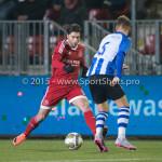 12-02-2016: Voetbal: Almere City FC v FC Eindhoven: Almere (L-R) Paul Quasten  (Almere City FC), Thomas Horsten (FC Eindhoven) Jupiler League 2015 / 2016