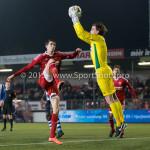 12-02-2016: Voetbal: Almere City FC v FC Eindhoven: Almere (L-R) Pelle van Amersfoort (Almere City FC), Ruud Swinkels (FC Eindhoven) Jupiler League 2015 / 2016