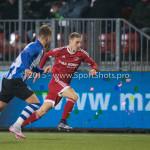 12-02-2016: Voetbal: Almere City FC v FC Eindhoven: Almere (L-R) Thomas Horsten (FC Eindhoven), Silvester van de Water (Almere City FC) Jupiler League 2015 / 2016