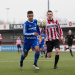 13-02-2016: Voetbal: Almere City FC O19 - Alphense Boys O19 2-0: Almere Marciano Vanenburg (Almere City FC A1)