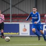 13-02-2016: Voetbal: Almere City FC O19 - Alphense Boys O19 2-0: Almere Fouad Dahmani (Almere City FC A1)