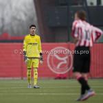 13-02-2016: Voetbal: Almere City FC O19 - Alphense Boys O19 2-0: Almere Alp Tutar (Almere City FC A1)