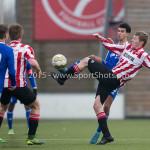 13-02-2016: Voetbal: Almere City FC O19 - Alphense Boys O19 2-0: Almere Amine el Bouzidi (Almere City FC A1)