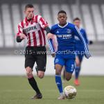 13-02-2016: Voetbal: Almere City FC O19 - Alphense Boys O19 2-0: Almere Jerreau Cairo (Almere City FC A1)