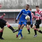 13-02-2016: Voetbal: Almere City FC O19 - Alphense Boys O19 2-0: Almere Ritchie Zinga (Almere City FC A1)