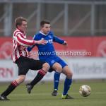 13-02-2016: Voetbal: Almere City FC O19 - Alphense Boys O19 2-0: Almere Sam Krant (Almere City FC A1)