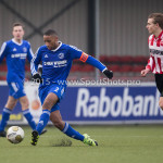 13-02-2016: Voetbal: Almere City FC O19 - Alphense Boys O19 2-0: Almere Nigel Olvira (Almere City FC A1)