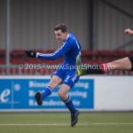 13-02-2016: Voetbal: Almere City FC O19 - Alphense Boys O19 2-0: Almere Nicky van Hilten (Almere City FC A1)