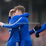 13-02-2016: Voetbal: Almere City FC O19 - Alphense Boys O19 2-0: Almere (L-R) Jeffrey O'Brien (Almere City FC A1), Theo  Visser (Almere City FC A1)