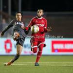 19-02-2016: Voetbal: Almere City v FC Volendam: Almere (L-R) Rafik El Hamdi (FC Volendam), Soufyan Ahannach (Almere City FC) Jupiler League 2015 / 2016