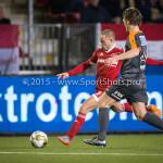 19-02-2016: Voetbal: Almere City v FC Volendam: Almere (L-R) Ricardo Kip (Almere City FC), Erik Schouten (FC Volendam) Jupiler League 2015 / 2016