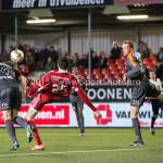 19-02-2016: Voetbal: Almere City v FC Volendam: Almere (L-R) Erik Schouten (FC Volendam), Pelle van Amersfoort (Almere City FC) Jupiler League 2015 / 2016