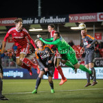 19-02-2016: Voetbal: Almere City v FC Volendam: Almere (L-R) Kaj Ramsteijn (Almere City FC), Hobie Verhulst (FC Volendam) Jupiler League 2015 / 2016