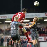 19-02-2016: Voetbal: Almere City v FC Volendam: Almere (L-R) Daan Klinkenberg (FC Volendam), Pelle van Amersfoort (Almere City FC) Jupiler League 2015 / 2016