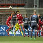 19-02-2016: Voetbal: Almere City v FC Volendam: Almere (L-R) Bert Steltenpool (FC Volendam), Jason Oost (Almere City FC) KNVB Beker 3de ronde 2015 / 2016