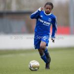 20-02-2016: Voetbal: Almere City O16 v FC Volendam O16: Almere Ryannique Inge (Almere City FC O16)