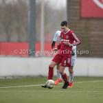 20-02-2016: Voetbal: Almere City B1 v FC Groningen B1: Almere Jesper Vos (Almere City FC B1)