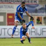 26-02-2016: Voetbal: FC Emmen v Almere City FC: Emmen (L-R) Ricardo Kip (Almere City FC), Pablo Rosario (Almere City FC) Jupiler League 2015 / 2016