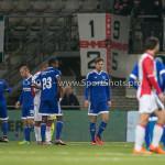 26-02-2016: Voetbal: FC Emmen v Almere City FC: Emmen (L-R) Pablo Rosario (Almere City FC),  Kaj Ramsteijn (Almere City FC) Jupiler League 2015 / 2016