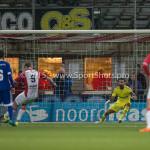 26-02-2016: Voetbal: FC Emmen v Almere City FC: Emmen (L-R) Marnix Kolder (FC Emmen), Agil Etemadi (Almere City FC) Jupiler League 2015 / 2016