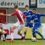 26-02-2016: Voetbal: FC Emmen v Almere City FC: Emmen (L-R) Jens Jurn Streutker (FC Emmen), Soufyan Ahannach (Almere City FC) Jupiler League 2015 / 2016