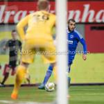 26-02-2016: Voetbal: FC Emmen v Almere City FC: Emmen (L-R) Dennis Telgenkamp (FC Emmen), Soufyan Ahannach (Almere City FC) Jupiler League 2015 / 2016
